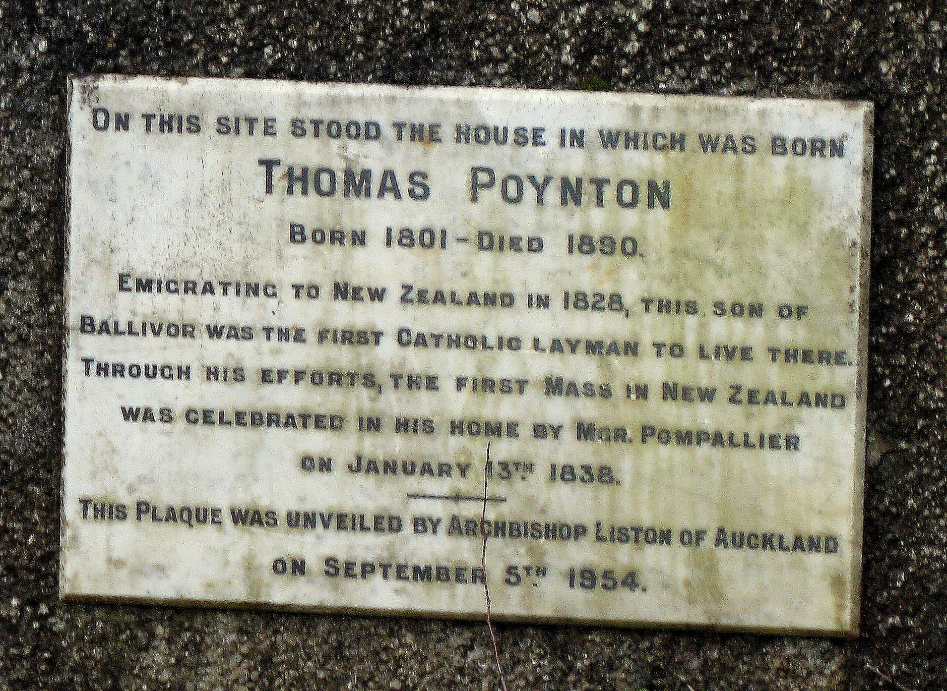 Poynton's Plaque
